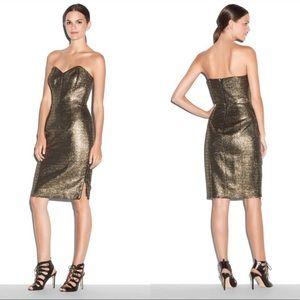 Gold Designer Cocktail Dress